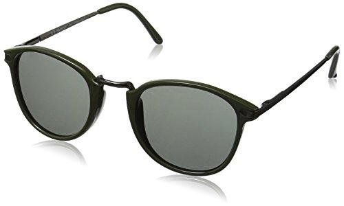 A.J. Morgan Castro Round Sunglasses Olive Green