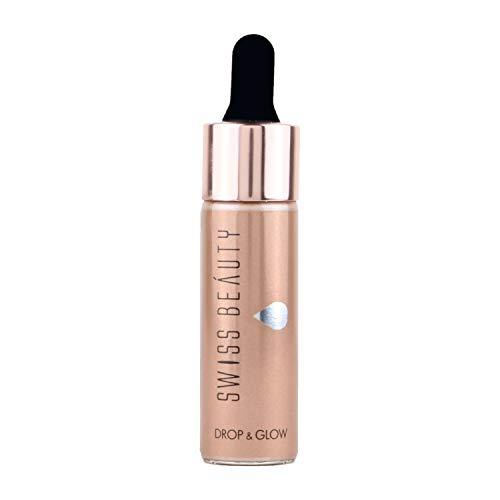 Swiss Beauty Drop &glow Liquid Highlighter, Face MakeUp, Metal, 18ml