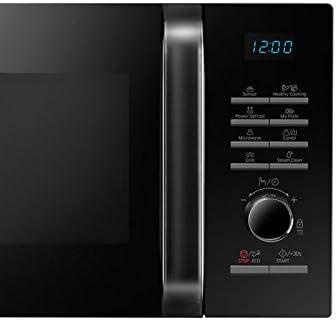 Innen Keramik Schwarz Display und Sensor Feuchtigkeit 23/L 800W//1200W Samsung MG23H3125NK//EC-Mikrowelle mit Grill