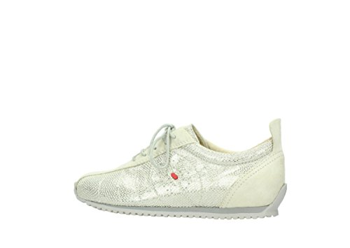 Wolky Comfort Sneakers 01400 Moreira 20120 alt weiß/silber gedruckt Leder
