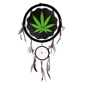 13inch Dream Catcher printed with Marijuana Pot Leaf design by OBI