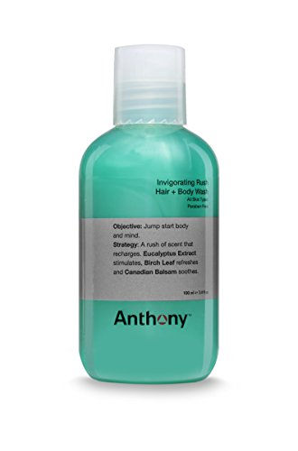 Anthony Invigorating Rush Hair plus Body Wash, 3.4 oz.