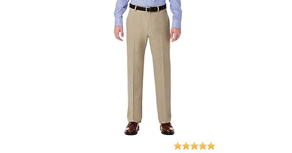 Haggar H26 Men S Performance 4 Way Stretch Classic Fit Trouser Pants Khaki 32x32 At Amazon Men S Clothing Store