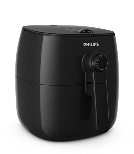 Philips TurboStar Technology Airfryer with Cookbook, Analog Interface, Black - 1.8lb/2.75qt- HD9621/99