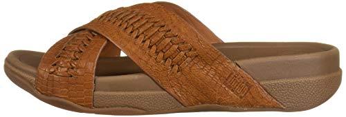 FitFlop-Men-039-s-Surfer-Slide-Woven-Leather-Croc-Embo-Choose-SZ-color thumbnail 6