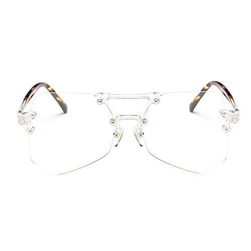 Mujeres Gafas Peggy Marco de Sol de para protección tamaño Irregular la para de Unisex UV Sol Transparente de Clear Gu Personalidad Color Gran sin conducción Gafas Colorida Viaje Hombres de Clear Claro U0xqzIUr
