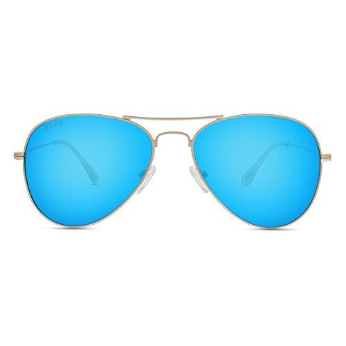 Diff Eyewear: Cruz – Designer Aviator Sunglasses – 100% UVA/UVB