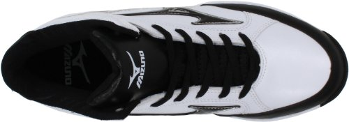 Mizuno Mens 9-spike Blast 3 Mid Baseball Cleat Bianco / Nero