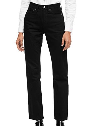 - Calvin Klein Women's High Rise Straight Fit Jeans, Black, 25x30