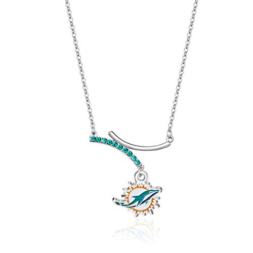 Pro Specialties Group NFL Miami Dolphins Dual Infinity Necklace