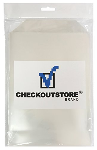 100 CheckOutStore Clear Storage Pockets (6 3/4 x 9 1/2) by CheckOutStore