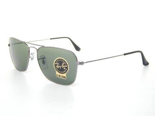 Ray Ban Caravan RB3136 004 Gunmetal/Green Classic G-15 Sunglasses ()