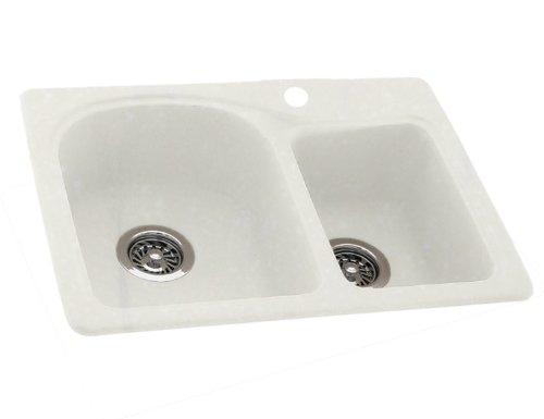 Swanstone Sink Accessories (Swanstone KSDB-3322-059 33-Inch by 22-Inch Double Bowl Kitchen Sink, Tahiti Ivory)