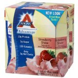 Atkins Ready To Drink Shake, Strawberry, 11-Ounce Aseptic Containers (Pack of  8)