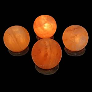 Amazon.com: 4 Sphere-shaped Himalayan Salt Lamps: Home ...