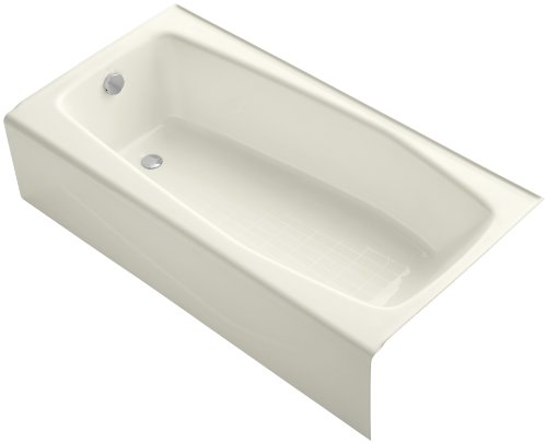 KOHLER 715-96 K-715-96, 30-40 Gallons, Biscuit (Iron Cast Left Drain)