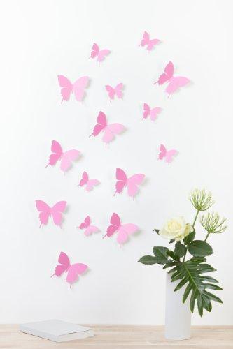 Amazon De Bilderdepot24 Schmetterlinge In 3d Style Rosa 15