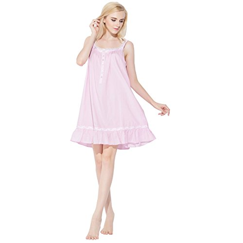 Dorekim Damen Nachthemd rosa rose Small