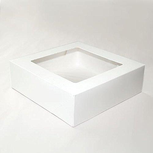 "8"" x 8"" x 2 1/2"" White Paper Windowed Pie Box - 100 per case"