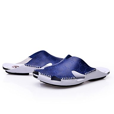Zapatos de hombre casual Zapatillas de cuero marrón / azul / Gris / beige Blue