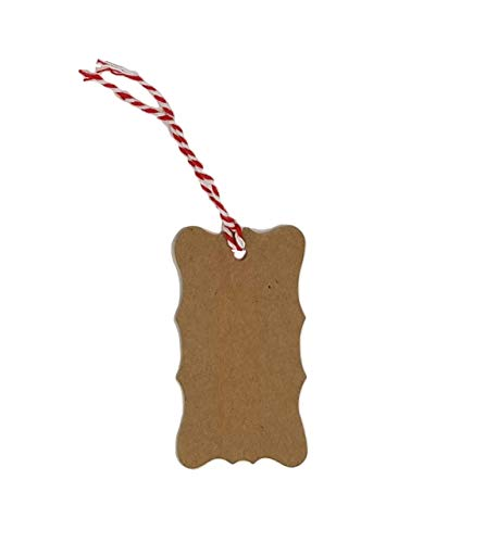 Kraft Tags for Gift Wrapping and Labeling (Fancy Shaped Natural Kraft 25 PCS) (Felt Gift Tags)