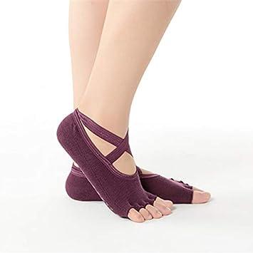 AYDWZ Yoga Cross Calcetines de Yoga Slip Femenino Calcetines ...