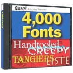 Snap! 4,000 Fonts by Topics Entertainment
