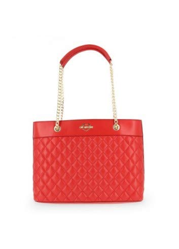 LOVE Moschino Women's Super Quilted Tote Chain Strap Red One Size ()