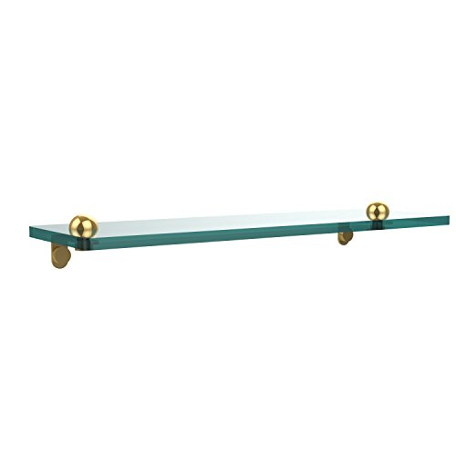 picture of Allied Brass RC-1/16-PB 16-Inch Glass Shelf