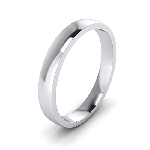 LANDA JEWEL 3mm Heavy Sterling Silver Comfort Fit Polished Womens Wedding Ring Plain Band (13) -