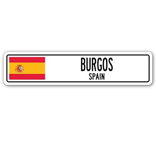 Amazon.com: Burgos, Spain Aluminum Street Sign Spaniard Flag ...
