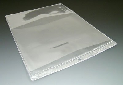 9'' x 12'' Multi Pocket Clear Vinyl Organizer with 2 Pockets & Hang Hole (7.5 Gauge) (100 Organizers) - AB-99-3-105