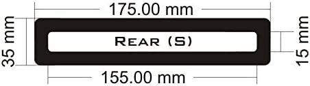 Rear Small Black Frame//Black Mesh DEMCiflex Dust Filter for Corsair 760T