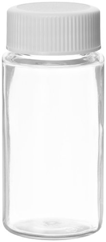 Wheaton 986751 PET 20mL Liquid Scintillation Vial, with Polypropylene Metal Foil Lined Screw Cap Packaged Separately (Case of -