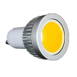 Leedfsw 5W GU10 350-400LM 6000-6500K Cool White Color Support Dimmable Led Cob Spot Light Lamp Bulb(110V)
