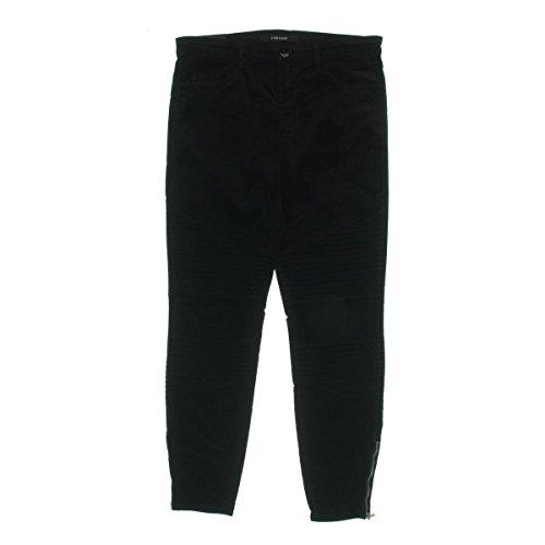 J Brand Womens Tori Velvet Moto Skinny Pants Black 30 by J Brand Jeans