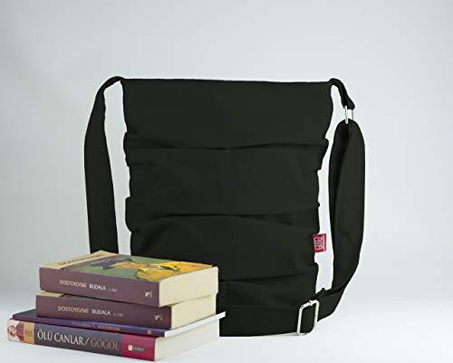 Dark Military Green Shirred Bag Pleated Bag