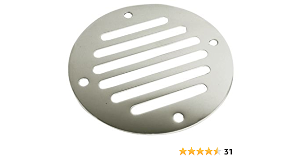 Stainless Steel 1 1//4 Inch Dive N Dog Boat Tube Shield Vent-B-S