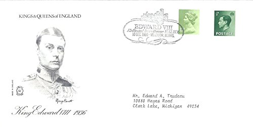 UK First Day Cover 10 December !980 Kings And Queens Of England King Edward VIII 1936