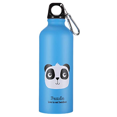 Fine Leak Proof Sports Bottle,Reusable Sports Drinking Water Container Stainless Steel Thermo Flask Leakproof Kids for Gym,Cycling,Football,School Outdoor Camping Hiking Water Bottle (Blue)