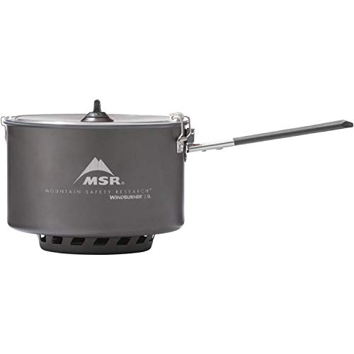 - MSR WindBurner 2.5-Liter Ceramic Camping Sauce Pot with Strainer Lid