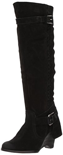 (Naughty Monkey Women's Double Up Slouch Boot, Black, 8 M US)