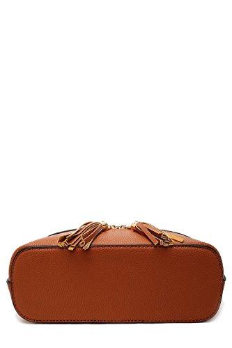 Style pocket Strategy with pull Bag Tassel zipper Crossbody Tan Phone r1rnqIH