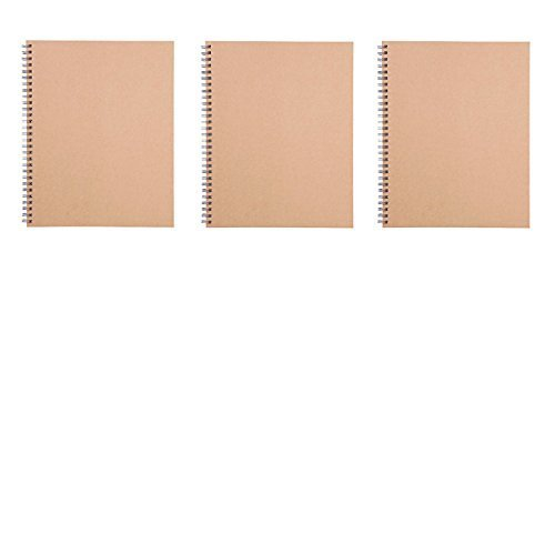 MoMa MUJI Double Ring Notebook B5 80sheets - Pack of 3books Beige by Muji