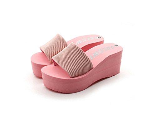 Always Pretty Womens Flexible and Lightweight Platform Sandals Pink oNBJS