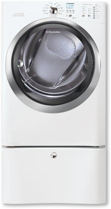 Electrolux EIMGD60JIWIQ-Touch 8.0 Cu. Ft. White Stackable With Steam Cycle Gas Dryer