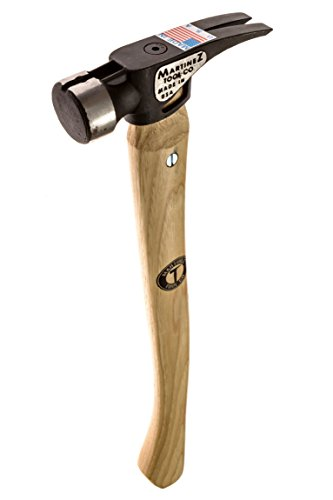 (Martinez Tools 19oz Smooth Face Steel Head Hammer with Curved Wood Handle)