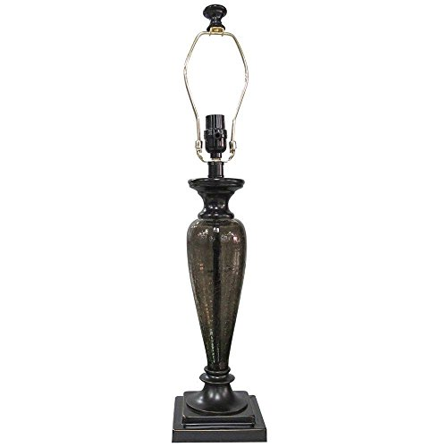 """Hampton Bay 24"""" Mix and Match Restoration Bronze with Tinted Glass Square Pillar Table Lamp"""