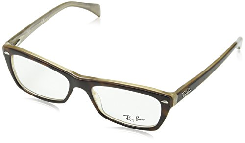 Ray-Ban Women's Rx5255 Square Eyeglasses,Top Havana & Transparen Beige,51 - Ray Sellers Top Ban