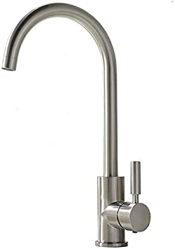 comllen best commercial brushed nickel stainless steel single handle kitchen faucet hot and cold single lever bar sink faucet rv water faucet